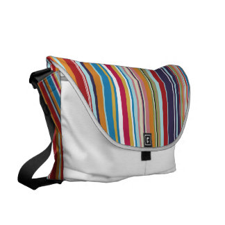 多彩縞で飾ります メッセンジャーバッグ