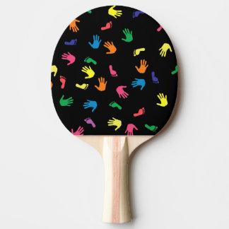 多彩Handprintの足跡 卓球ラケット