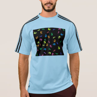 多彩Handprintの足跡 Tシャツ