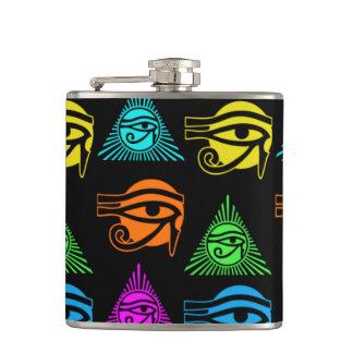多彩Horusの目、かRAの目 フラスク