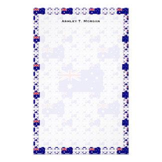 多数のカラフルな層のオーストラリアの旗 便箋