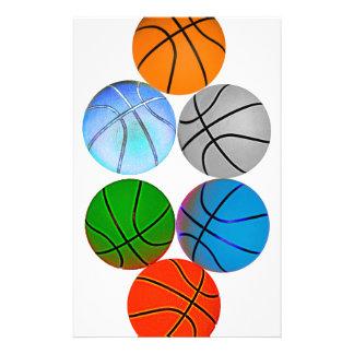 多数のバスケットボール 便箋