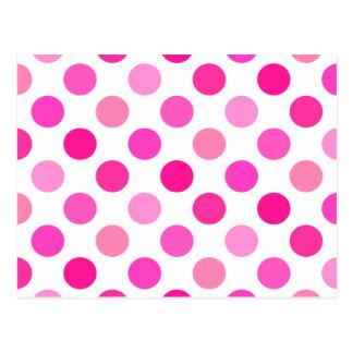 多数のピンクの水玉模様 ポストカード