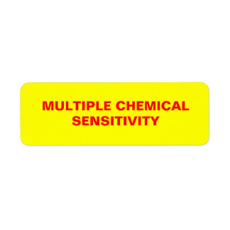 多数の化学感受性のステッカー ラベル