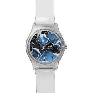 多数の半端ものは青を形づけ、黒は泡立ちます 腕時計