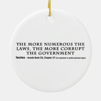 多数の法律多く不正な政府 陶器製丸型オーナメント