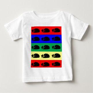 多数の虎猫猫のポップアートのベビーのワイシャツ ベビーTシャツ