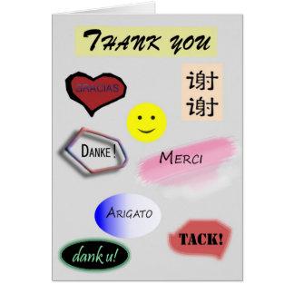 多数の言語のありがとう カード