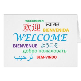 多数の言語歓迎 カード