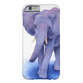 多数項目の紫色象の水彩画の芸術! BARELY THERE iPhone 6 ケース