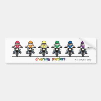 多様性のバンパーステッカー バンパーステッカー