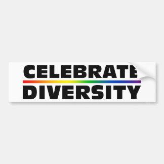 多様性を祝って下さい バンパーステッカー