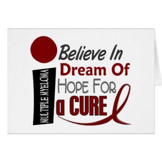 多発性骨髄腫は夢の希望を信じます カード