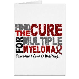 多発性骨髄腫は治療1を見つけます カード