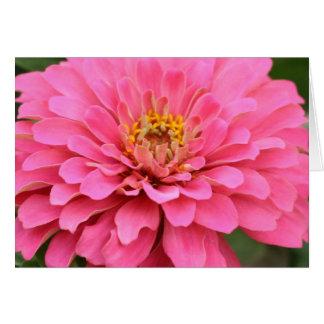 多目的ピンクの花カード グリーティングカード
