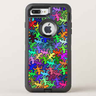 多色のなモザイク鏡のヤモリパターン- オッターボックスディフェンダーiPhone 8 PLUS/7 PLUSケース
