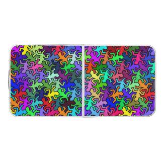 多色のなモザイク鏡のヤモリパターン- ビアポンテーブル