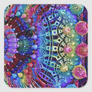 多色のな抽象デザインのシャンデリア スクエアシール
