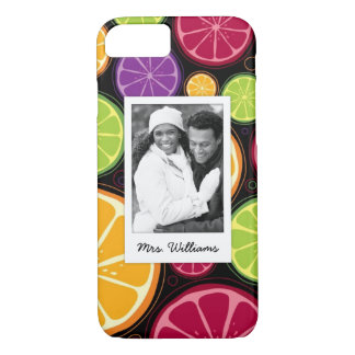 多色のな柑橘類は|あなたの写真を加えます iPhone 8/7ケース