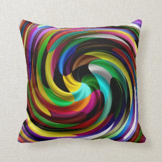多色のな渦巻のレトロの芸術のデザインの抽象芸術 クッション