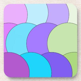 多色刷りのおもしろいの円の波 コースター