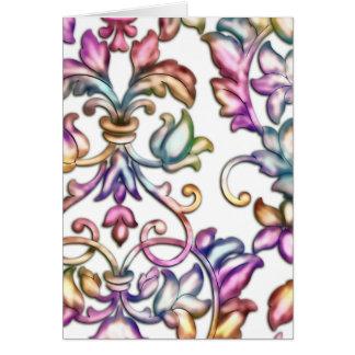 多色刷りのエンボスのダマスク織 カード