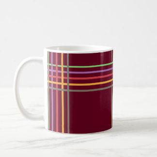 多色刷りのストライプなパターン~editable背景 コーヒーマグカップ
