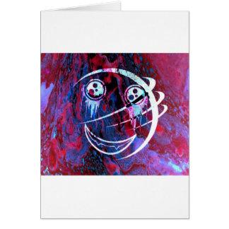 多色刷りのスマイリーフェイス カード