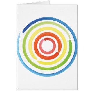 多色刷りの円 カード