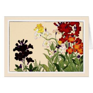 多色刷りの壁の花、Botanicalsの芸術カード カード
