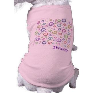 多色刷りの抽象的な水玉模様(ライト) ペット服