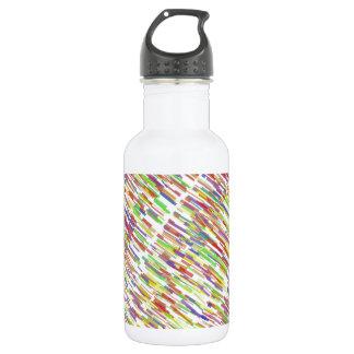 多色刷りの抽象芸術ラインパターン ウォーターボトル