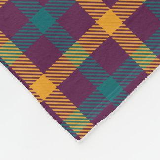 多色刷りの暗い格子縞のフリースブランケット フリースブランケット