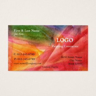 多色刷りの芸術的な名刺 名刺