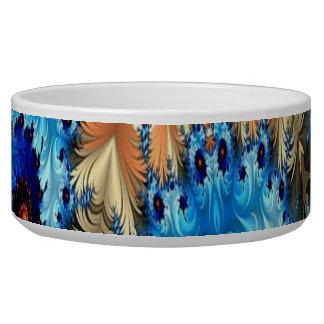 多色刷りの装飾的なデザインのペットボウル
