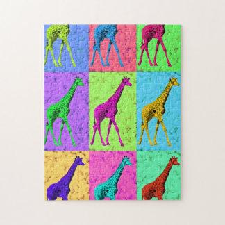 多色刷りポップアートのPopartの歩くのキリン ジグソーパズル
