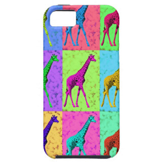 多色刷りポップアートのPopartの歩くのキリン iPhone SE/5/5s ケース