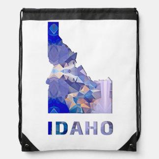 多角形のモザイク州の地図アイダホ ナップサック