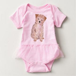 多角形の子犬 ベビーボディスーツ
