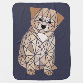 多角形の子犬 ベビー毛布