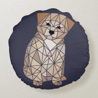 多角形の子犬 ラウンドクッション