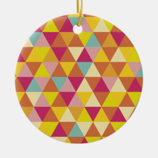 多角形幾何学的な形の数々のな色の三角形 セラミックオーナメント