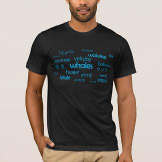 多言語のクジラ Tシャツ