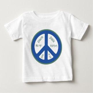 多言語平和 ベビーTシャツ