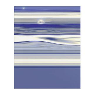 夜および月の青 アクリルウォールアート