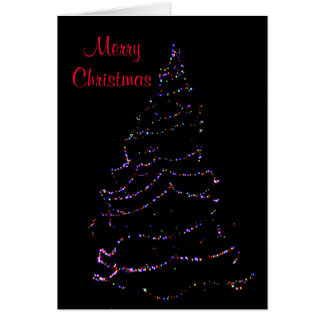 夜につくクリスマスツリー カード