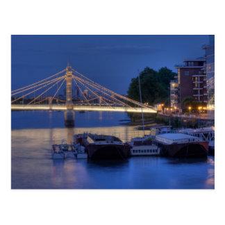夜のアルバート橋 ポストカード