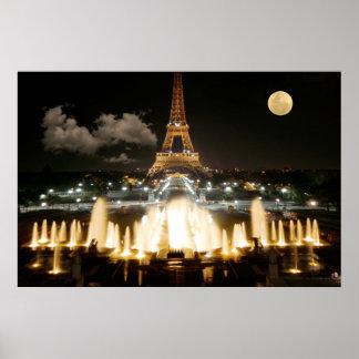 夜のエッフェル塔 ポスター