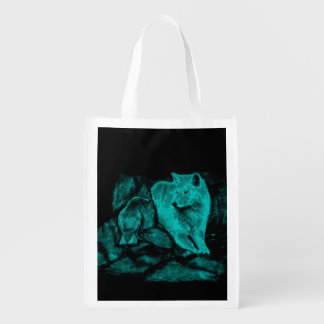 夜のオオカミそしてワタリガラス エコバッグ