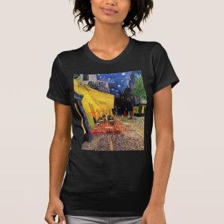 夜のゴッホのカフェ台地 Tシャツ